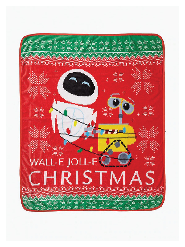 Wall-E Christmas Throw Blanket