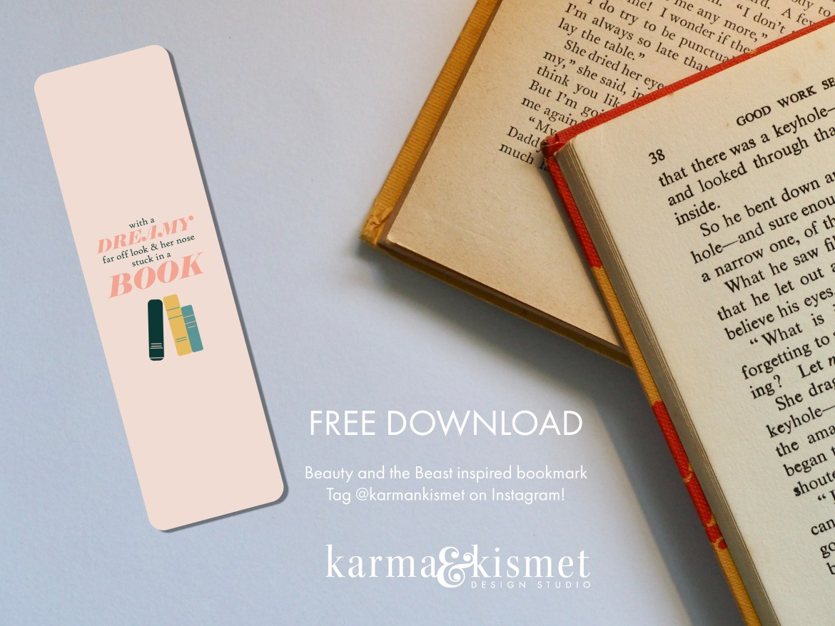 Free Beauty and the Beast bookmark download