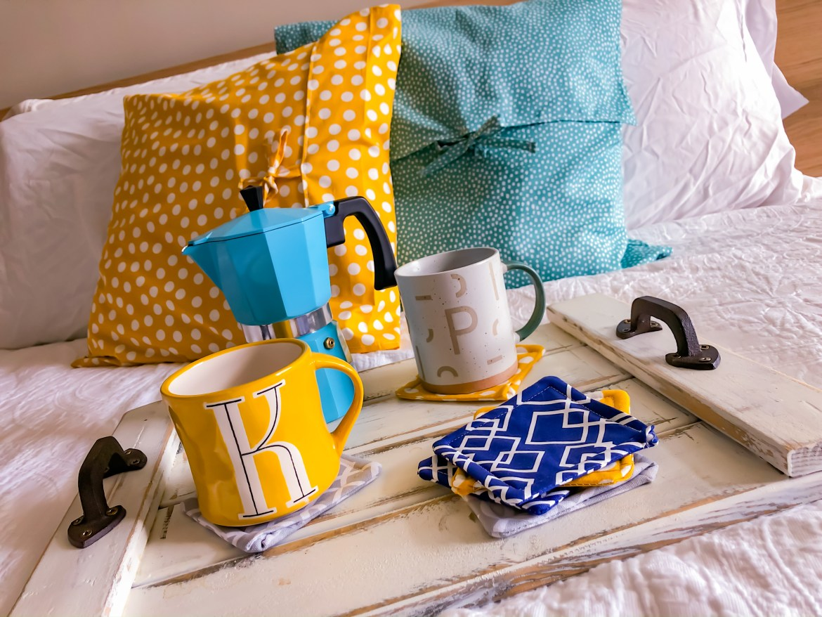 DIY coasters with free sewing pattern