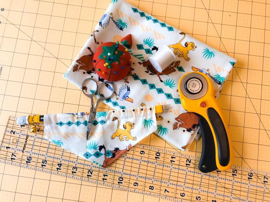 Supplies to create your pet bandana