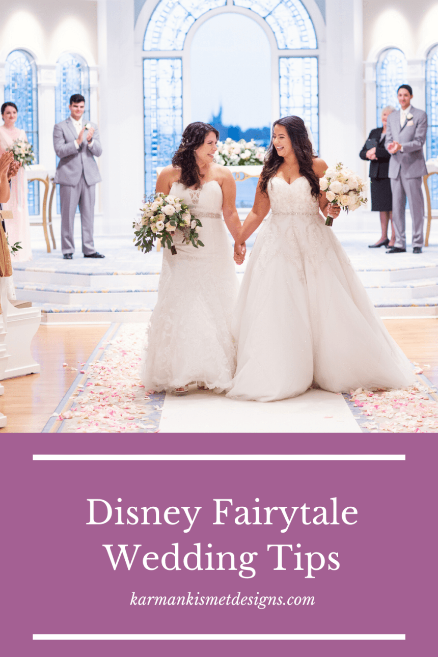 Tips for Disney Fairytale Weddings