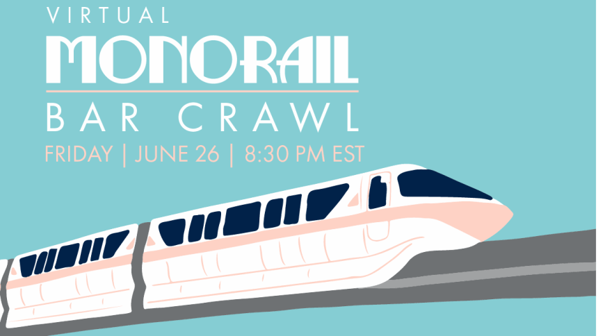 Virtual Disney Monorail Bar Crawl