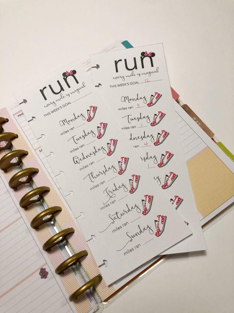 runDisney planner insert