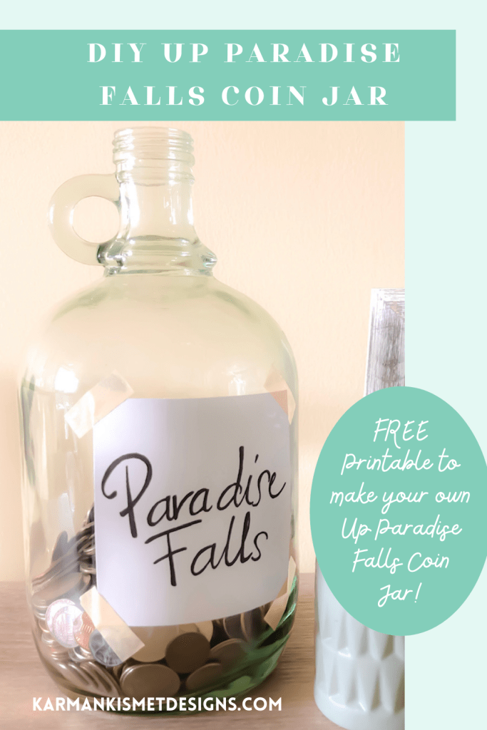 Free Printable to create your own Paradise Falls Coin Jar like from Disney's Up