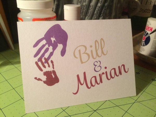 Up Handprint Greeting Card