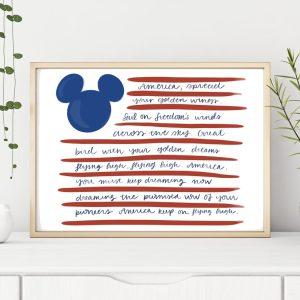 disney american flag printable art