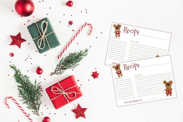 disney christmas recipe cards