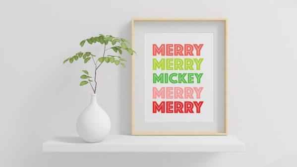 merry merry mickey disney christmas art decorations