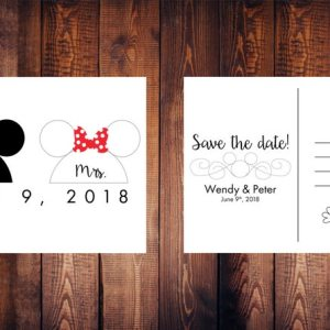 Mickey and Minnie Mouse Save the Date