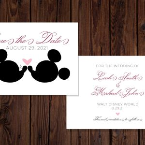 Mickey and Minnie Disney Save the Dates