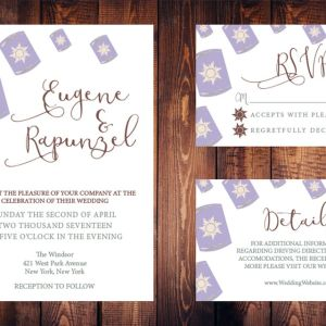 disney tangled wedding invitation
