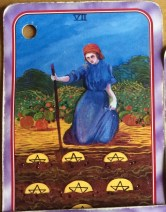 Spiral Tarot 7 of Pentacles
