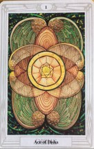 Thoth Tarot Ace of Disks