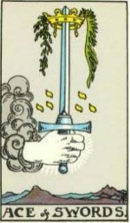 Rider-Waite Ace of Swords