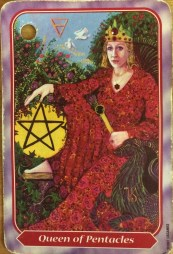 Spiral Tarot Queen of Pentacles