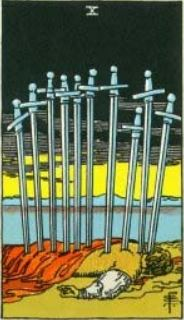 Rider-Waite 10 of Swords