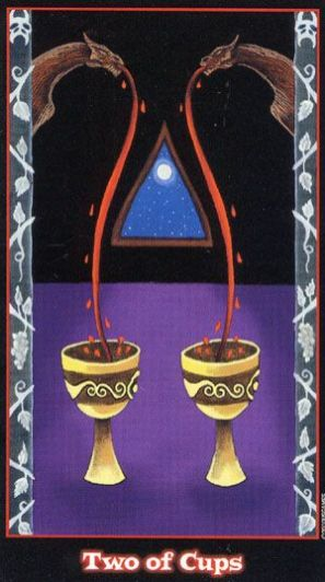 vampire tarot 2 of cups
