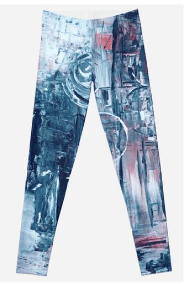 abstract art yoga pants