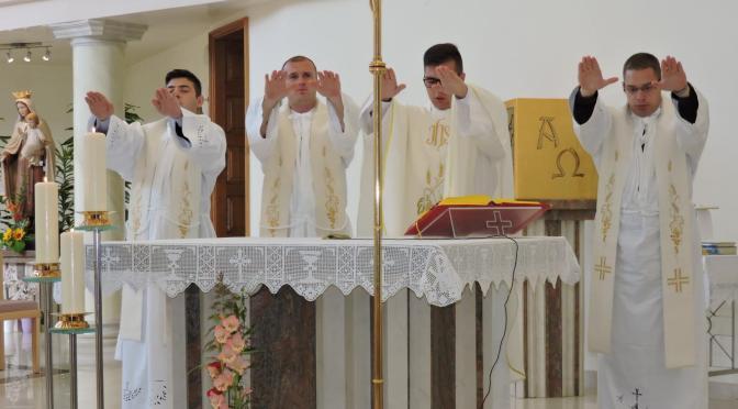 Mladomisnici u Karmelu sv. Josipa