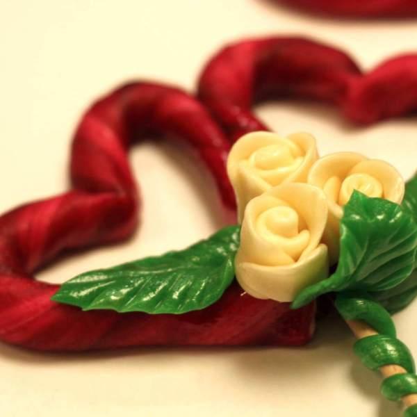 Bukiet serc i róż