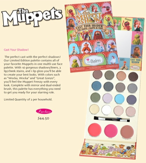 Preview: TheBalm Limited Edition Muppets Cast Your Shadow Palette (6/6)