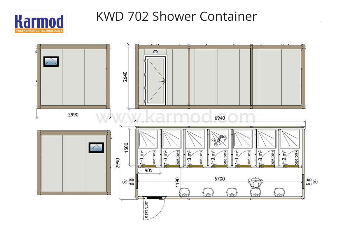 Wc  Shower  Sanitary Containers Plans