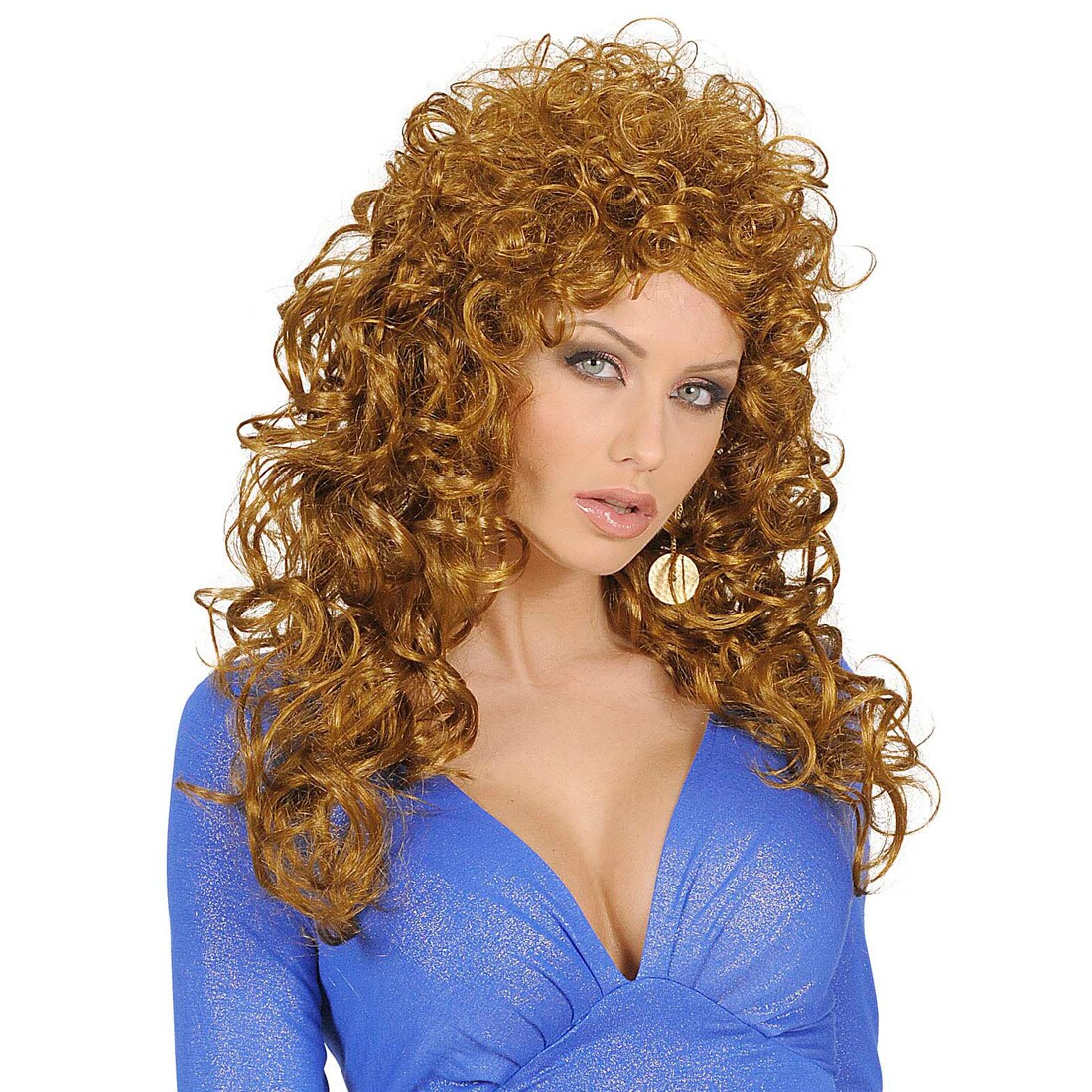 Perucke Locken Orange
