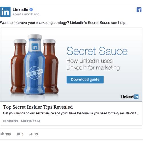 linkedin facebook ad