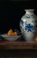 Blue Vase and Sugar Pears