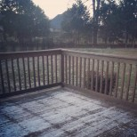 Our deck covered in ice
