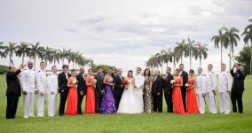 Karol and Garrett WEdding at Deering Estate Miami