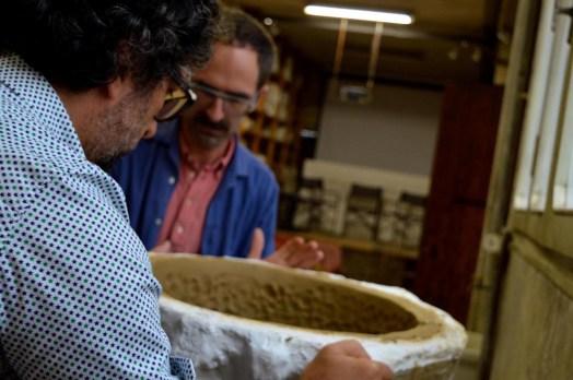 Matteo Zauli, the director of Museum is helping