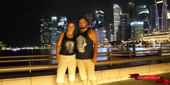 Karolina and Patryk in Singapore at night