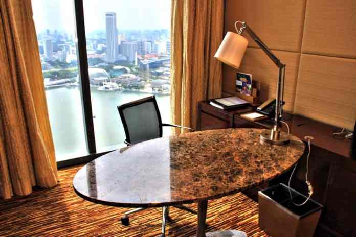 Working space at Marina Bay Sands Hotel