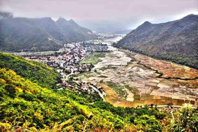 Rice fields at Hòa Bình Province