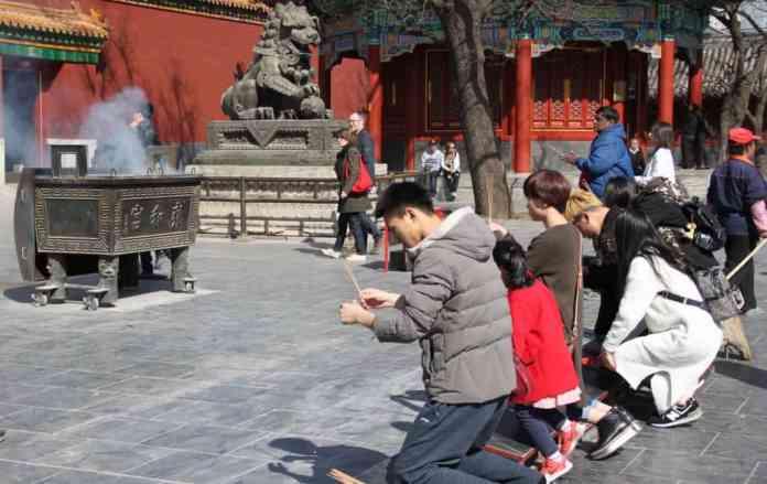 Praying in China