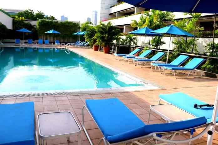 Swimming pool at Concorde Hotel in Singapore