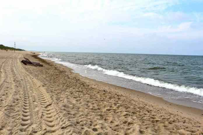 white beach in Nida