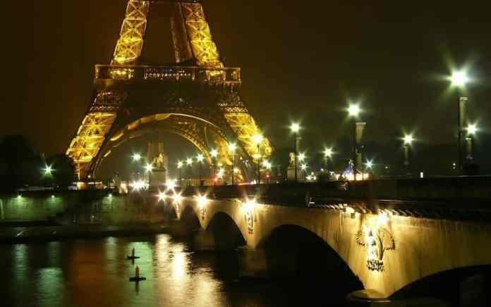 Paris night cruise Eiffel Tower