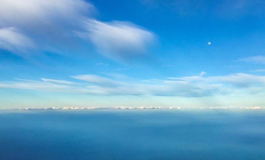 Himmel Wolken Fotografie Photography Horizont aus dem Flugzeug