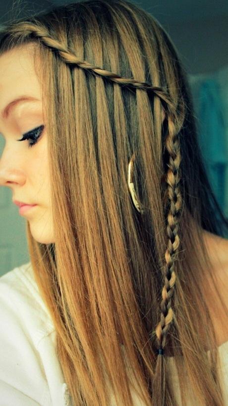 Einfache zpfe lange haare