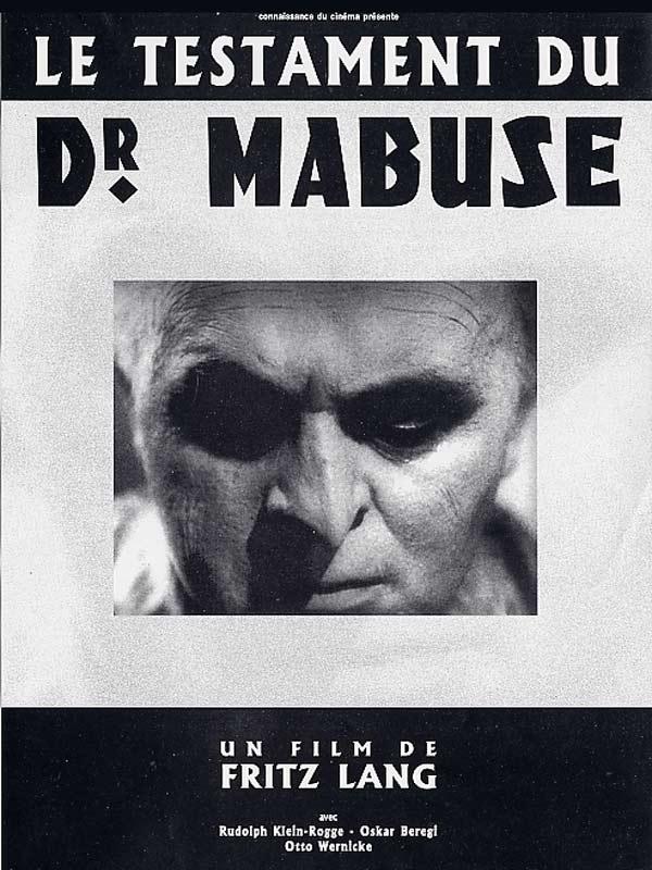 Le Testament Du Docteur Mabuse : testament, docteur, mabuse, Scènes, Cultes, Testament, Docteur, Mabuse, Fritz