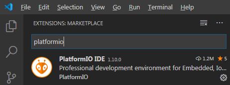 PlatformIO extension