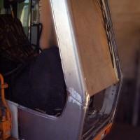 Reparatur Baggerkabine, Cannigione Sardinien