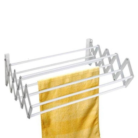 retractable wall mounted laundry drying rack