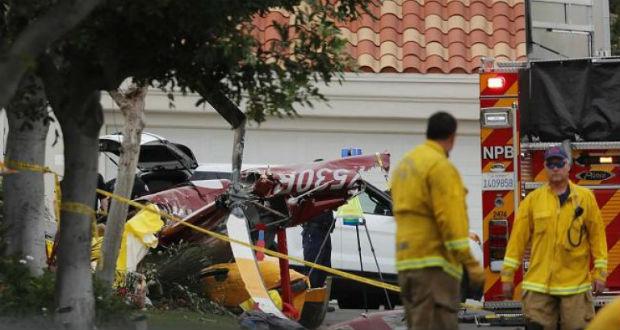 Lakóházra zuhant egy helikopter Kaliforniában
