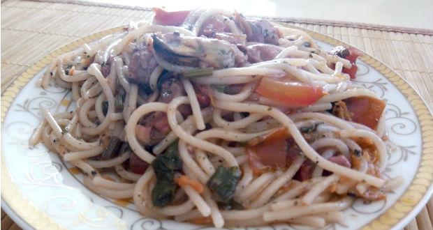 Kagylós spagetti