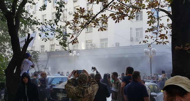 Nacionalista tüntetők csaptak össze rendőrökkel Kijevben