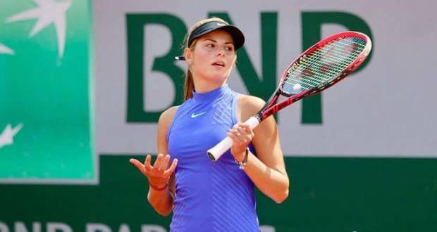 Az ukrán Katarina Zavacka feladta a meccset a székesfehérvári tenisztornán