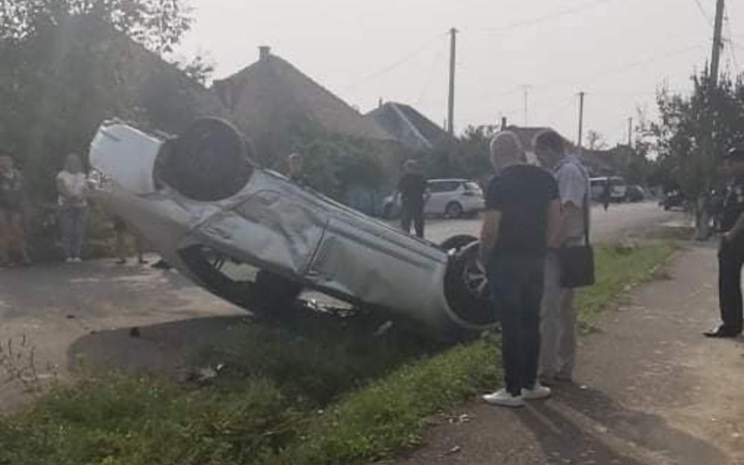 Két autó ütközött össze Beregszászban